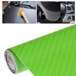 Car Decorative 3D Carbon Fiber PVC Sticker, Size: 152cm x 50cm(Green)
