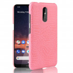 Shockproof Crocodile Texture PC + PU Case For Nokia 3.2(Pink)