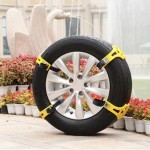8PCS Car Snow Tire Anti-skid Chains For Family Car(Yellow)
