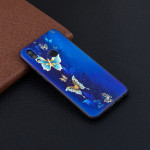 Embossment Patterned TPU Soft Case for Huawei Honor 10 Lite / P Smart 2019 (Golden Butterfly)