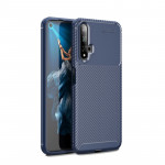 Beetle Series Carbon Fiber Texture Shockproof TPU Case for Huawei Honor 20(Blue)