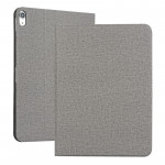 Fabric Texture Horizontal Solid Leather Case for iPad Pro 11 inch, with Holder & Sleep / Wake-up Function(Gray)