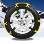 6 PCS Car Snow Tire Anti-skid Chains Yellow Chains For Family Car