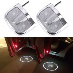 2 PCS LED Car Door Welcome Logo Car Brand Shadow Light Laser Projector Lamp for MAZDA(Silver)