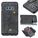 Leather Protective Case For Galaxy S10e(Gray)