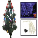 LED 8 Light Bar Meteor Shower Light-emitting Lamp for Christmas - White Light