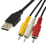 USB to 3 x RCA Male Cable, Length: 1.5m