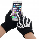 Skeleton Fingers Coating Dot Gloves of Touch Screen for iPhone 5, iPhone 4 & 4S / iPad / iPod Touch, Samsung, BlackBerry, HTC an