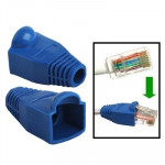 100 pcs Network Cable Boots Cap Cover for RJ45, Blue