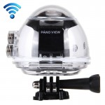 360 Degree Experience Fisheyes FHD 2440P WiFi DV 8.0MP Panoramic Video Camera with Waterproof Case