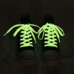 1 Pair Noctilucent Shoelaces, Length: About 80cm(Yellow)