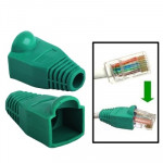 100 pcs Network Cable Boots Cap Cover for RJ45, Green