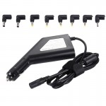 Laptop Notebook Power 90W Universal Car Charger with 8 Power Adapters & 1 USB Port for Samsung, Sony, Asus, Acer, IBM, HP, Lenov