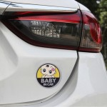 Baby in Car Lovely Smile Face Adoreable Car Free Sticker(Yellow)