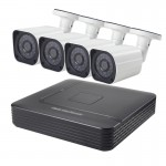 COTIER A4B6 4Ch 720P 1.0 Mega Pixel Bullet IP Camera NVR Kit, Support Night Vision / Motion Detection, IR Distance: 15m