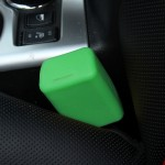 Safe Rubber Car Seat Belt Clips Locking Buckles Protective Cover(Green)
