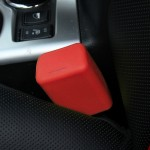 Safe Rubber Car Seat Belt Clips Locking Buckles Protective Cover(Red)