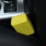 Safe Rubber Car Seat Belt Clips Locking Buckles Protective Cover(Yellow)