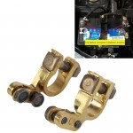 2 PCS Brass Positive and Nagative Car Battery Connectors Terminals Clamps Clips, Inner Diameter: 1.7cm