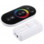S103 RGB 6-keys RF Wireless LED Full Touch Controller with Wall Mount, DC 12-24V