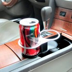 SHUNWEI SD-1021 Auto Car Truck Mount Dual Hole Drink Can Drinking Bottle Cup Holder Stand(Black)