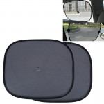 2 PCS Car Window Foldable Shade for Side Blocks UV Rays with Suction Cups