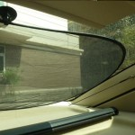 Car Window Foldable Shade for Back Blocks UV Rays with Suction Cups