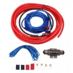 YH-8GA 1200W 8GA Car Copper Clad Aluminum Power Subwoofer Amplifier Audio Wire Cable Kit with 60Amp Fuse Holder