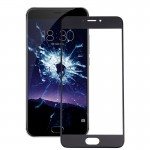 iPartsBuy Meizu MX6 Front Screen Outer Glass Lens(Black)