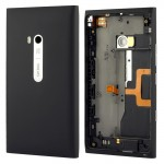 Housing Battery Back Cover With Side Button Flex Cable for Nokia Lumia 900(Black)