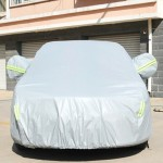 PVC Anti-Dust Sunproof Hatchback Car Cover with Warning Strips, Fits Cars up to 4.4m(172 Inches) In Length