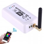 Wifi RGB LED Remote Controller, Support iOS 6 or later & Android 4.0 or later, DC 12-24V