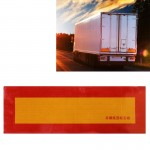 Car Auto Aluminum 55cm × 19cm Rear Warning Sign Sticker for Truck and Van