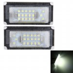 2 PCS License Plate Light with 18 SMD-3528 Lamps for BMW Mini COOPER R50/R52/R53(White Light)