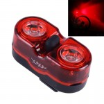 M-528 Red Light 2 LED 3 Modes Bicycle Rear Light Warning Light with Handlebar Mount