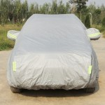 Oxford Cloth Anti-Dust Waterproof Sunproof Flame Retardant Breathable SUV Car Cover with Warning Strips, Fits Cars up to 4.7m(18
