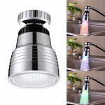 SDF-B10 1 LED ABS Temperature Sensor RGB LED Faucet Light Water Glow Shower, Size: 58 x 38mm, Interface: 22mm (Silver)