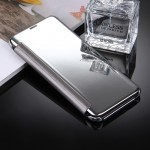 For Samsung Galaxy S8 / G9500 Electroplating Mirror Horizontal Flip Leather Case with Sleep / Wake-up Function(Silver)