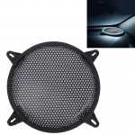 8 Inch Car Auto Metal Mesh Black Round Hole Subwoofer Loudspeaker Protective Cover Mask Kit with Fixed Holder