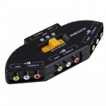 AV-33 Multi Box RCA AV Audio-Video Signal Switcher + 3 RCA Cable, 3 Group Input and 1 Group Output System(Black)