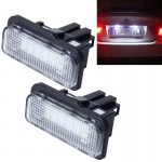 2 PCS Canbus License Plate Light with 24 SMD-3528 Lamps for Benz