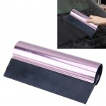 Car Auto Body Surface Window Wrapping Film Black Rubber Scraper Sticker Tool Black with Pink Metal Handle
