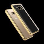 For Samsung Galaxy S8 + / G9550 Electroplating Frame Soft TPU Protective Case(Gold)