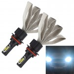 2 PCS S7 9004 40W 3200 LM 6000K IP68 Car Headlight with 2 COB Lamps and Heat Dissipation Cable, DC 9-30V(White Light)