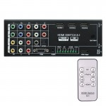 NK-H18 8-inputs to 1-output Multi-function Video / Audio Adapter Switch / Multi-Format Switcher with Remote Controller, Support