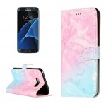 For Samsung Galaxy S8 + / G9550 Pink Green Marble Pattern Horizontal Flip Leather Protective Case with Holder & Card Slots & Wal