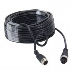 15m M12 4P Aviation Connector Video Audio Extend Cable for CCTV Camera DVR