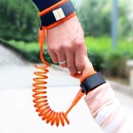 Kids Safety Harness Child Leash Anti Lost Wrist Link Traction Rope Anti Lost Bracelet, Length: 1.5m(Orange)