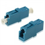 LC-LC Single-Mode Simplex Fiber Flange / Connector / Adapter / Lotus Root Device(Blue)