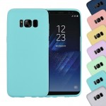 For Samsung Galaxy S8 Lovely Candy Colors Soft TPU Protective Case (Blue)